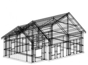 steel structure building drawing
