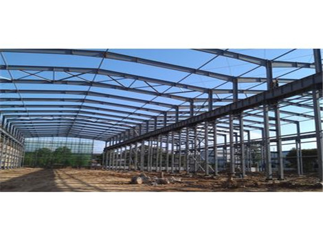 China steel structures are prepared for customers.