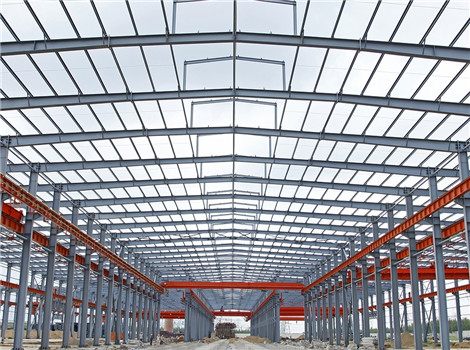steel structure with crane for sale.