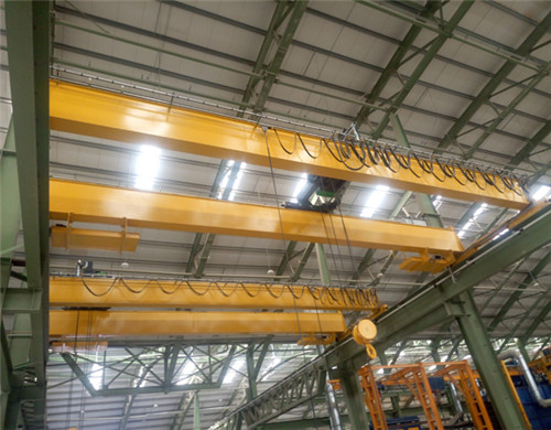 top running double girder bridge crane for sale.
