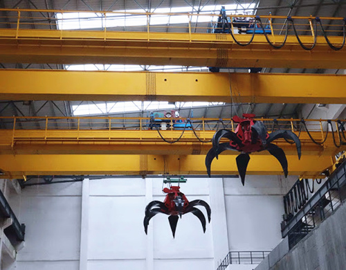 overhead grab crane