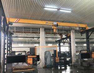 single girder indoor crane with high working efficiency,