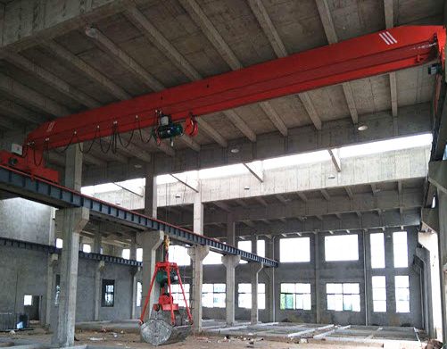single girder grab overhead crane